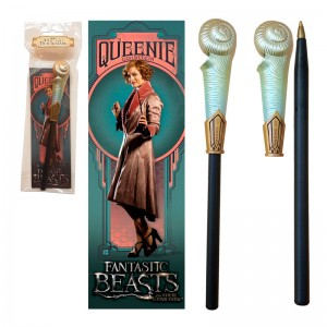 Fantastic Beasts Queenie Goldstein wand pen and bookmark