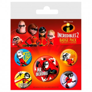 Disney The Incredibles badge pack