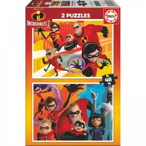 Disney The Incredibles 2 puzzle 2x48pcs