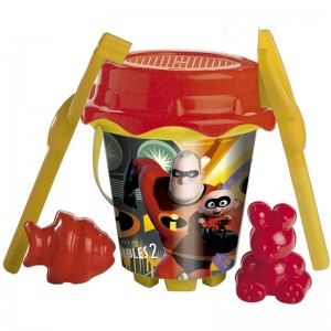 Disney The Incredibles sand bucket and mould