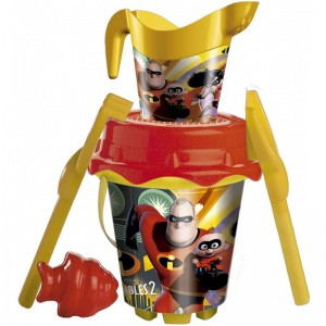 Disney The Incredibles sand bucket moulds watering can