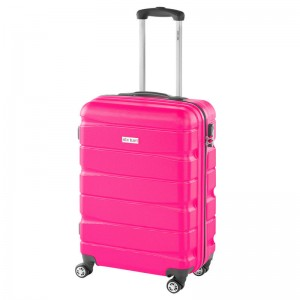 Vogart Pink ABS trolley suitcase 55cm 4 wheels