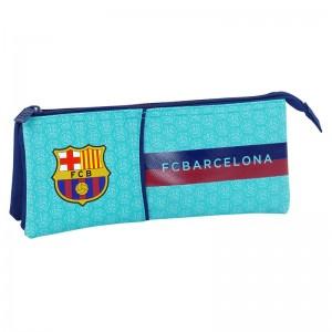FC Barcelona Blue triple pencil case