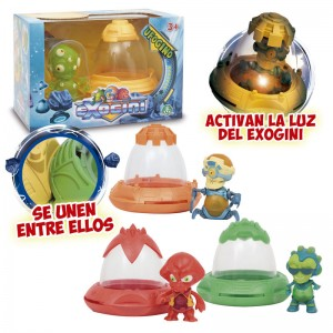Exogini Ufogino spacecraft + Alien figure assorted