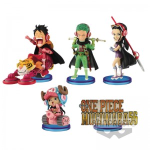 One Piece World Collectable Mugiwara assorted figure 7cm