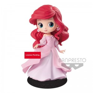 Disney The Little Mermaid Ariel Princess Pink Dress Q Posket figure 14cm