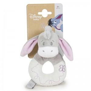 Disney Baby Winnie the Pooh Eeyore soft plush rattle