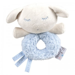 Eileen the Sleep Baby blue soft plush rattle