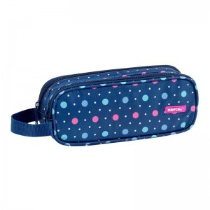 Safta Dots Blue double pencil case