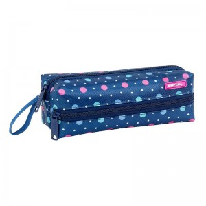 Safta Dots Blue triple pencil case