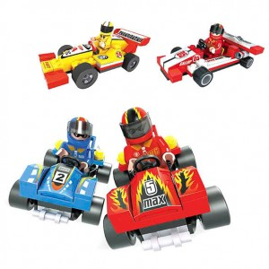 Assorted racing vehicles game building