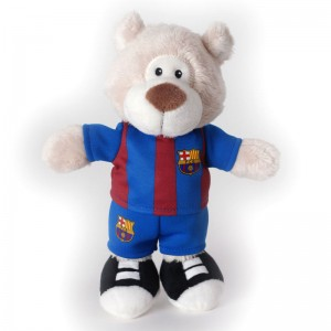 Nici FC Barcelona Bear musical soft plush toy 20cm