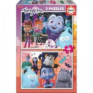 Disney Vampirina puzzle 2x48pcs