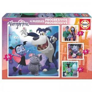 Disney Vampirina progresive puzzle 12-16-20-25pcs