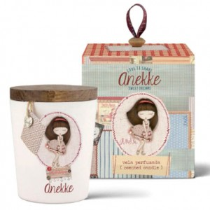 Anekke Dream patchwork candle with wooden lid