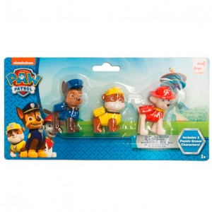 Paw Patrol 3D puzzle eraser characters in blister