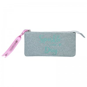 Marshmallow Sparkle in Green triple pencil case