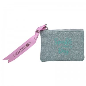 Marshmallow Sparkle in Green purse