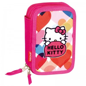 Hello Kitty triple pencil case