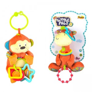 Giraffe chimpanzee assorted rattle