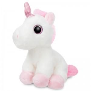 Unicorn white solft plush toy 18cm