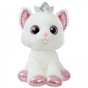 Cat white soft plush toy 18cm