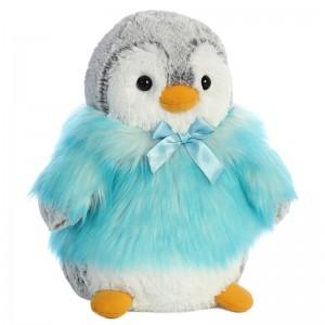 Penguin turquoise solft plush toy 23cm