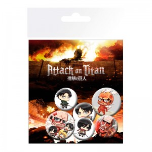 Attack On Titan badge pack