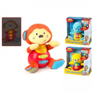 Assorted plush toy with light and sound