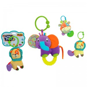 Animals assorted rattle