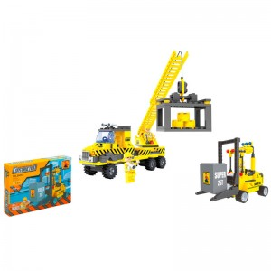 Assorted building vehicles building game
