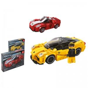 Racing car assorted building car