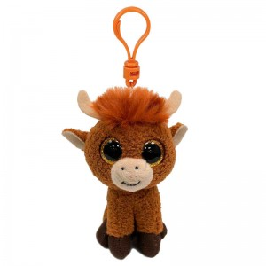 TY Beanie Boos Angus Highland Cow plush key chain 10cm