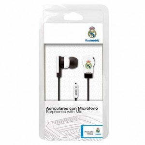 Real Madrid headphones with button and microphone