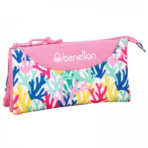 Benetton Coralli triple pencil case