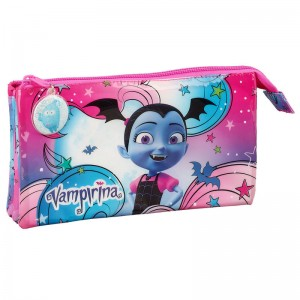 Disney Vampirina triple pencil case