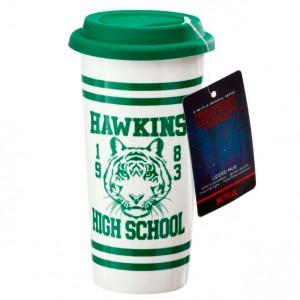 Stranger Things Hawkins High School lidded mug