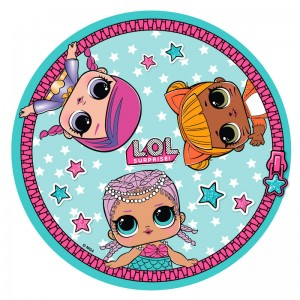 LOL Surprise Dolls round microfiber towel