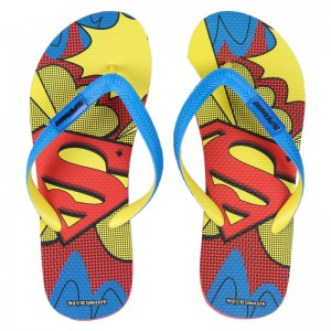 DC Comics Superman adult premium flip flops