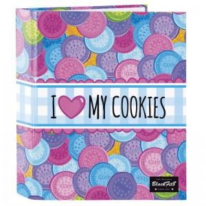 Blackfit 8 Cookies A4 cardboard ring binder