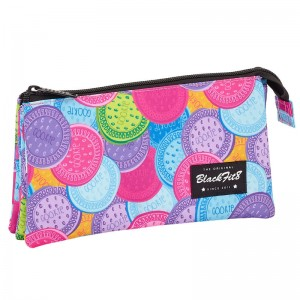 Blackfit 8 Cookies triple pencil case