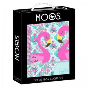 Moos Flamingo Turquoise gift set