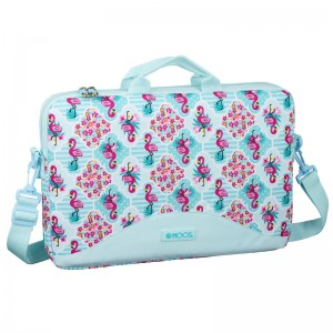 Moos Flamingo Turquoise laptop bag
