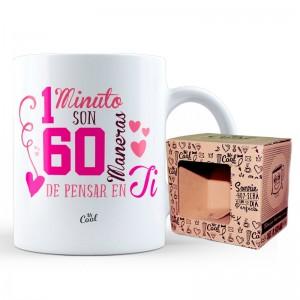 1 Minuto Son 60 Maneras De Pensar En Ti mug