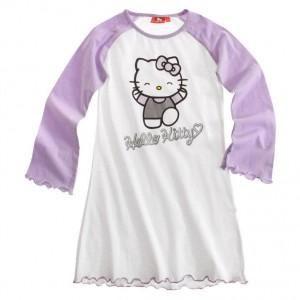 Camison blanco y morado Hello Kitty