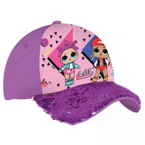 LOL Surprise purple sequins cap