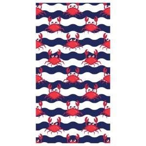 Crabs microfiber beach towel