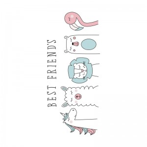 Best Friends microfiber beach towel