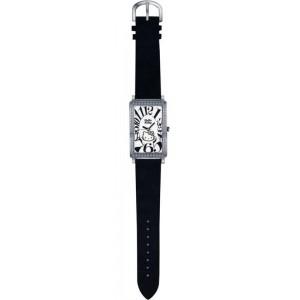 Reloj Black Leather Hello Kitty Diamond Collection Sanrio
