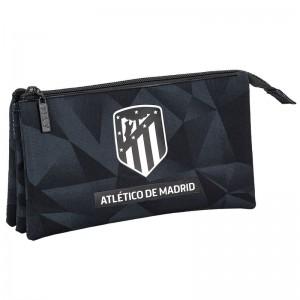 Atletico Madrid Black triple pencil case